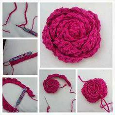 объемные розы крючком схемы вязание