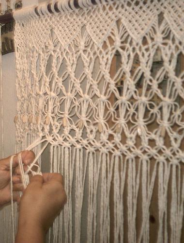 Схема плетения настенного панно макраме