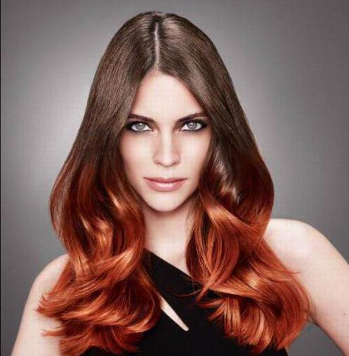 Растяжка цвета - техника окрашивания волос (описание, фото)