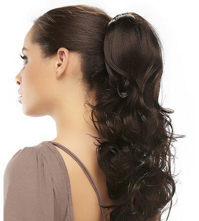объемный хвост на длинные волосы