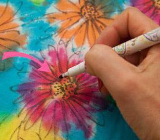 маркер для ткани смывающийся hemline