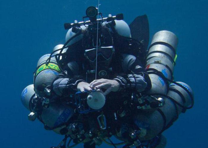 глубоководные погружения с аквалангом