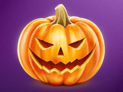 как нарисовать хэллоуинскую тыкву