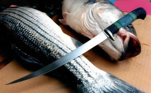 Ножи филейные для разделки рыбы рукоять для ножа из стали 95х18