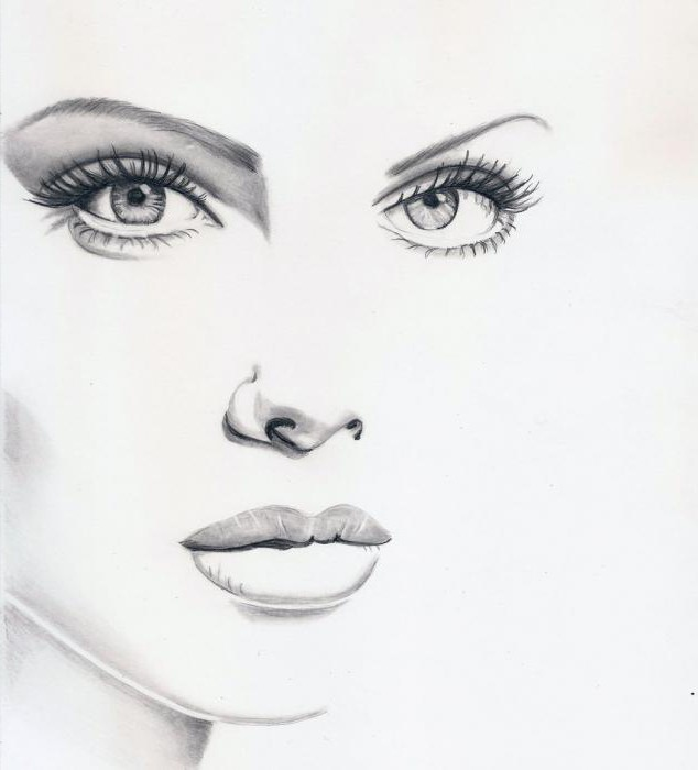 Learn to paint a graphic portrait in pencil