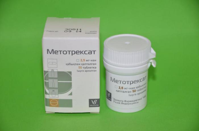 Описание препарата Метотрексат и его свойства