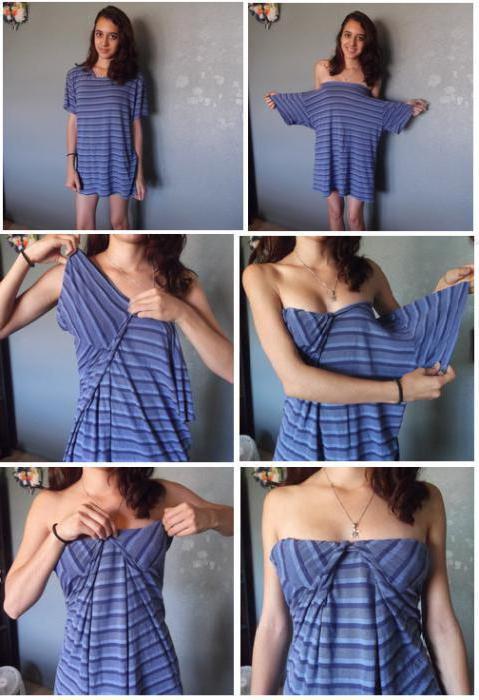 как из футболки сделать платье своими руками