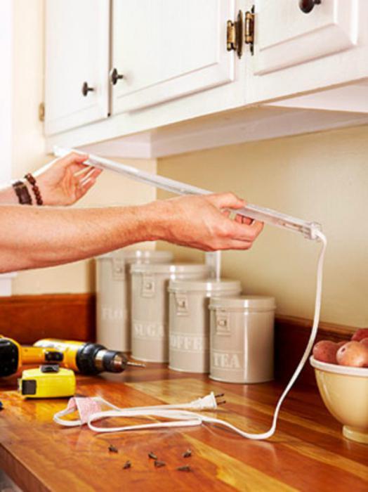 выбираем подсветку для рабочей зоны на кухне