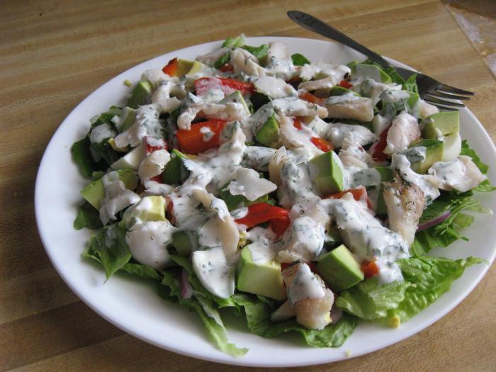 салат из вареной трески