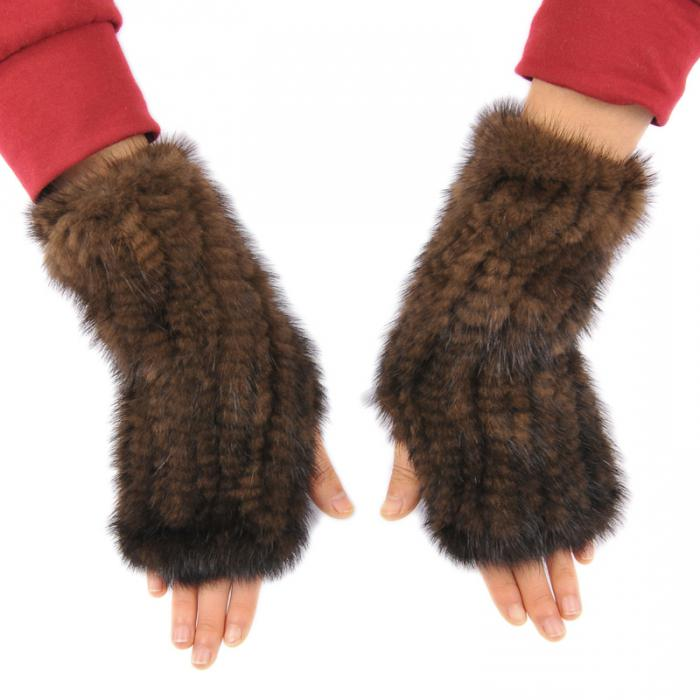 Варежки из норки своими руками