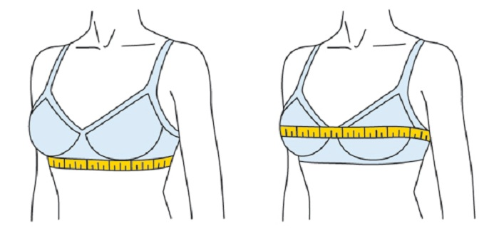как снять мерки с груди