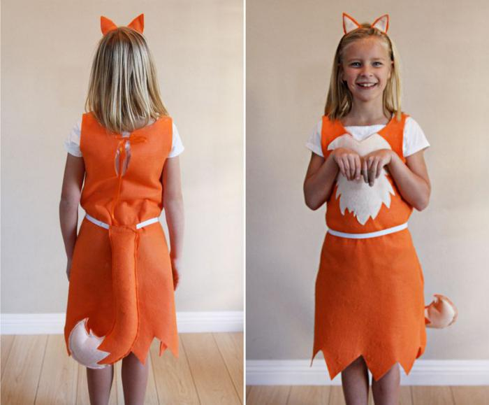 костюм лисички своими руками