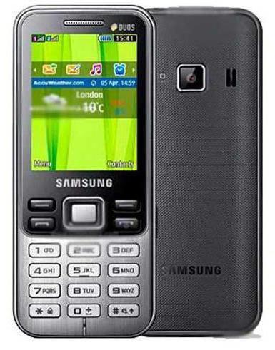 Samsung 3322 Duos инструкция характеристики