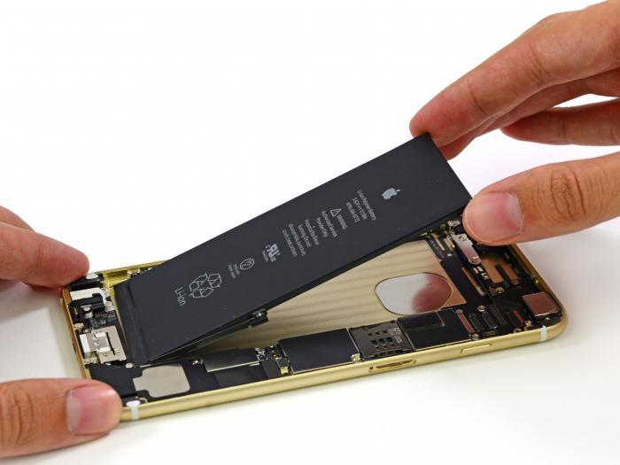 Айфон 6s емкость аккумулятора