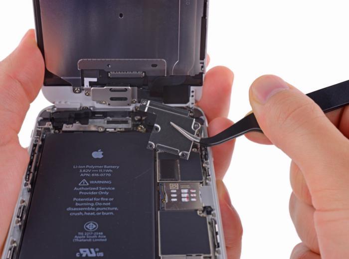 iphone 6 емкость аккумулятора