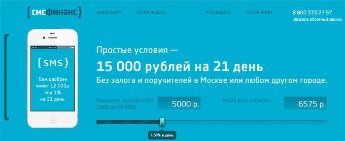 «СМС-финанс» отзывы