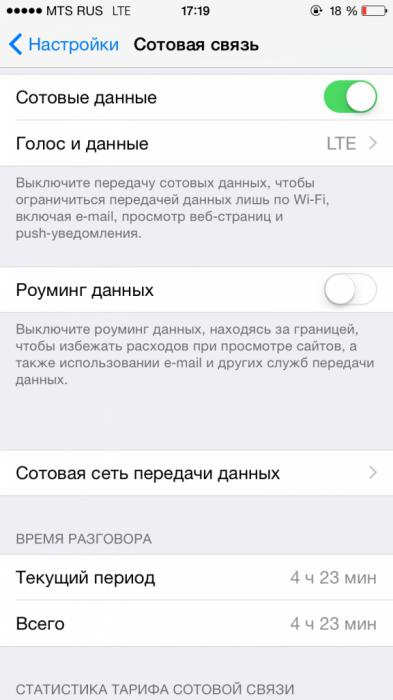 режим модема на iPhone 6