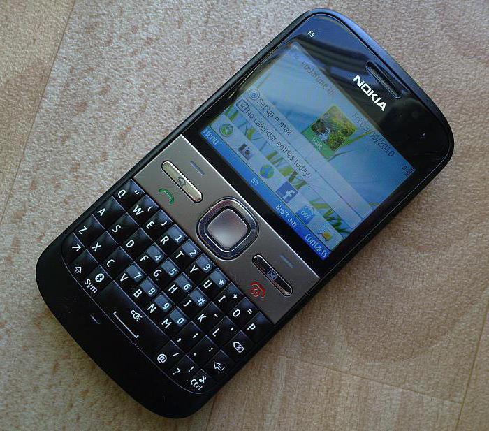 Nokia E5: свойства, аннотация, фото, настройка