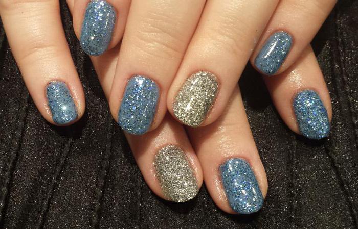 Как сделать блестки на ногти с гелем 580