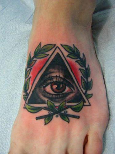 тату глаз в треугольнике значение