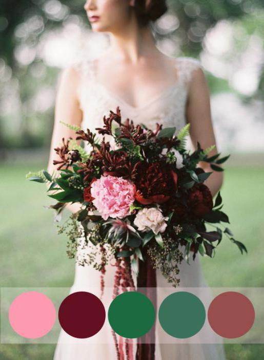 Свадьба в цвете марсала: стильно, модно и со вкусом