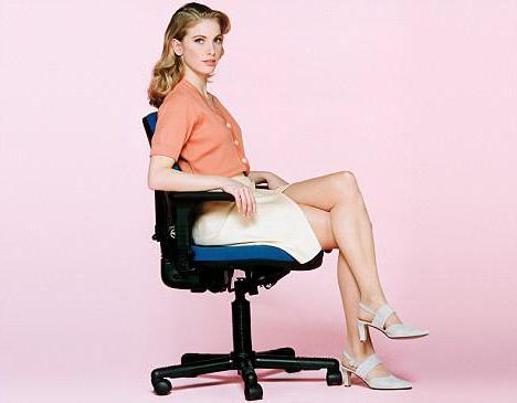 Сексуальная девушка сидит нога на ногу