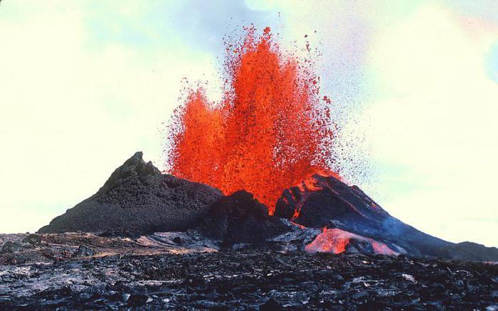 пирокластический поток вулкана