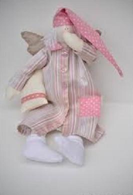 Сплюшка-тильда. Сонный Ангел. Как сшить куклу