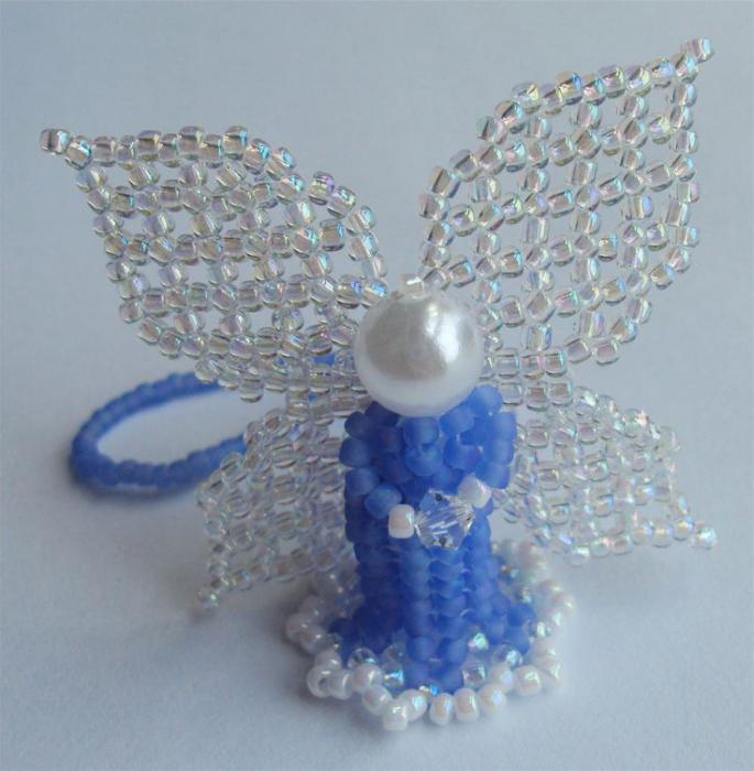 ангел объемный из бисера