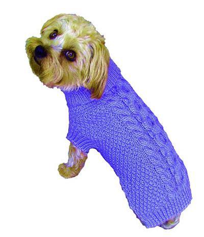 Свитер для собаки спицами