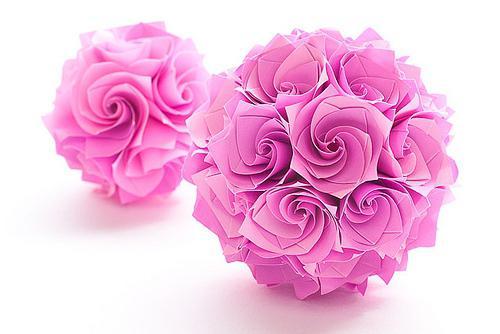 цветы из бумаги схема