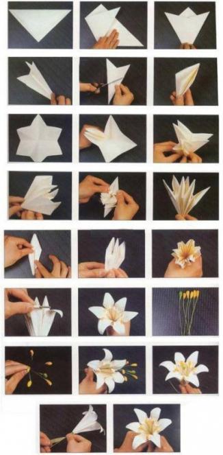 цветы оригами из бумаги схемы