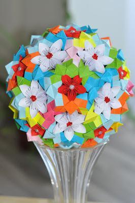 поделки из бумаги цветы схемы