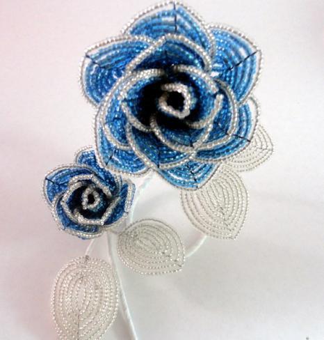 розы схема из бисера