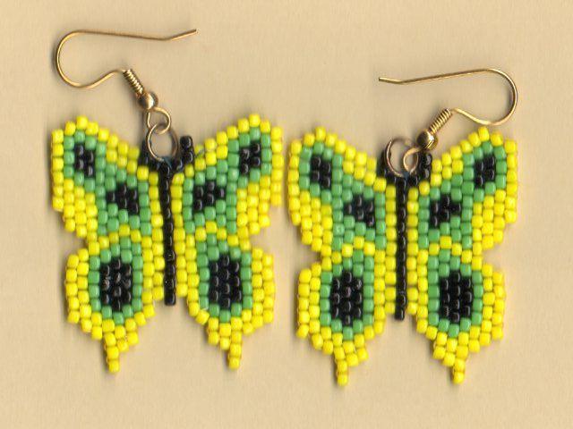 плетение из бисера серьги схемы