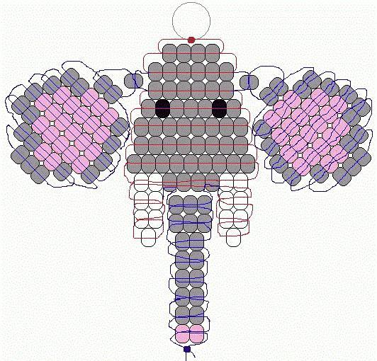 схемы плетения животных из бисера