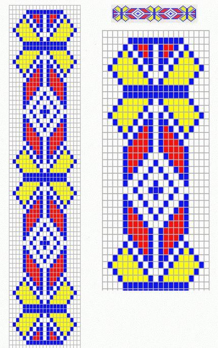 браслет из бисера схема плетения для начинающих