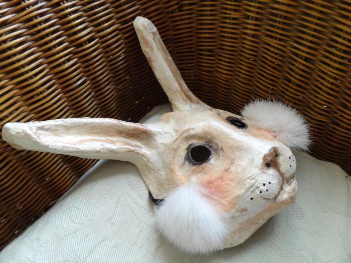маска голова зайца