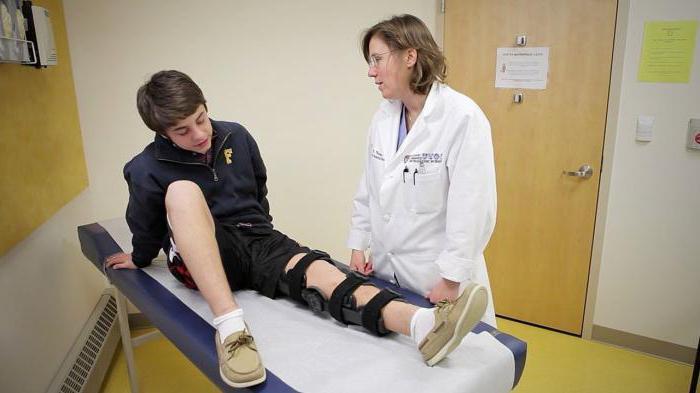 Надрыв крестообразной связки коленного сустава