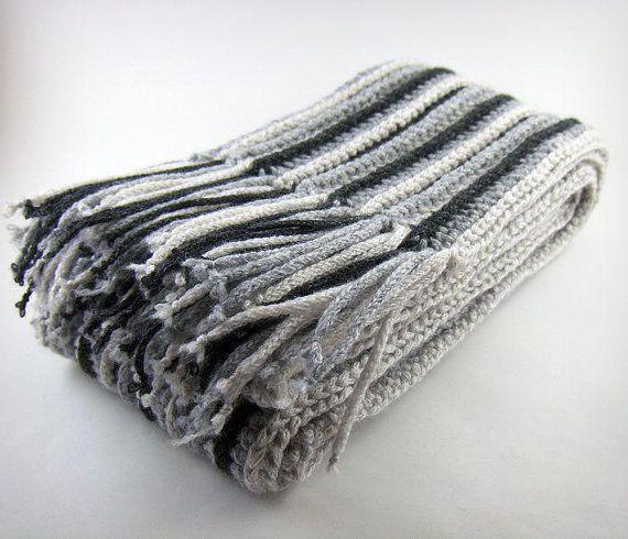 шарф мужской крючком