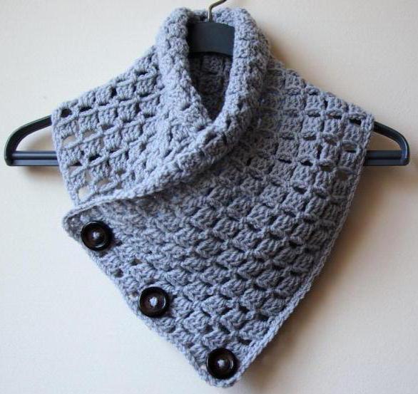 шарф мужской связанный крючком