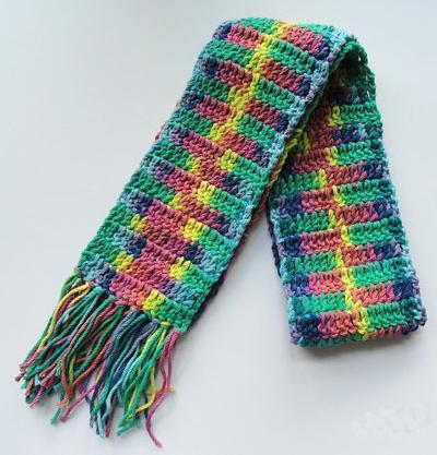 Детский шарф со схемой