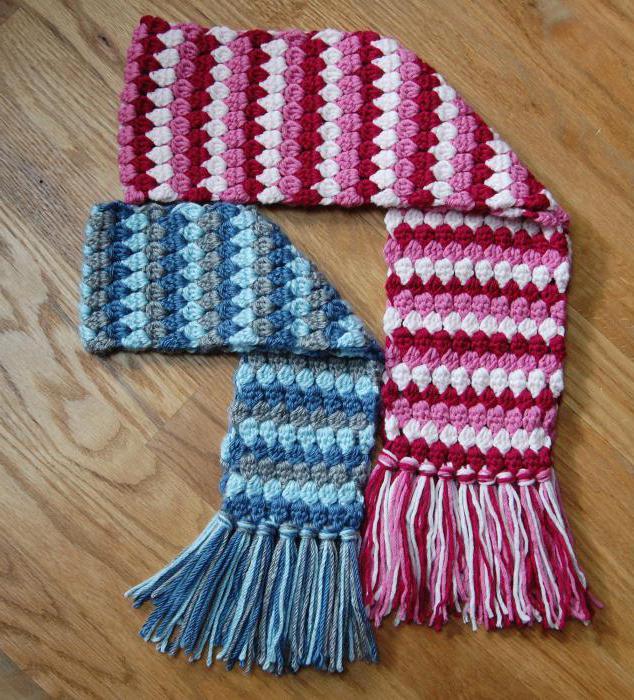 детские шарфы и шапки крючком