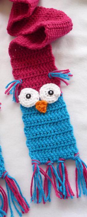детские шарфы крючком со схемами