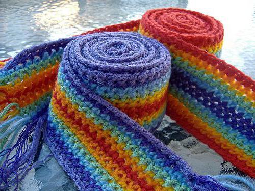шарф мальчику крючком схема