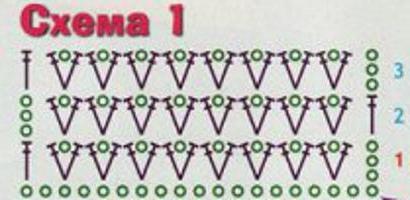 схема простого детского шарфа