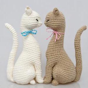 Амигуруми коты связанные крючком схемы и 51