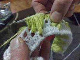 как вязать гусиные лапки крючком