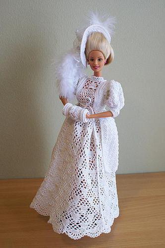 крючком платье для куклы