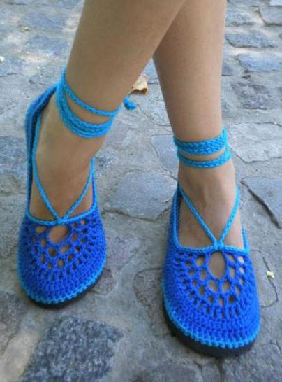 вязаная обувь мастер класс